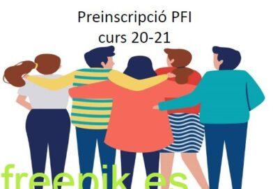 Preinscripció PFI curs 20-21