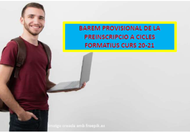 Barem provisional per a Cicles formatius curs 20-21
