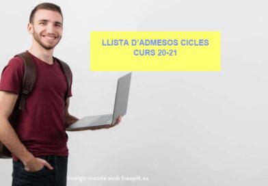 Llistes Cicles curs 20-21