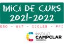 Inici de Curs 2021-2022