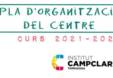 Pla d'organització de Centre 21-22